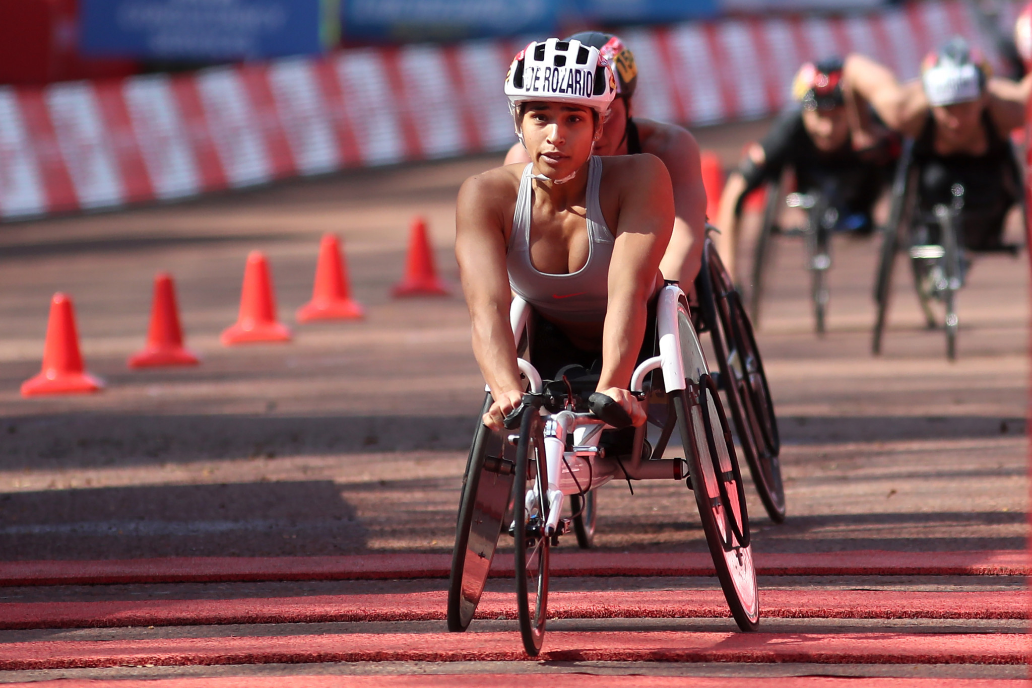 Madison De Rozario claimed a shock win in the women's wheelchair race ©Getty Images