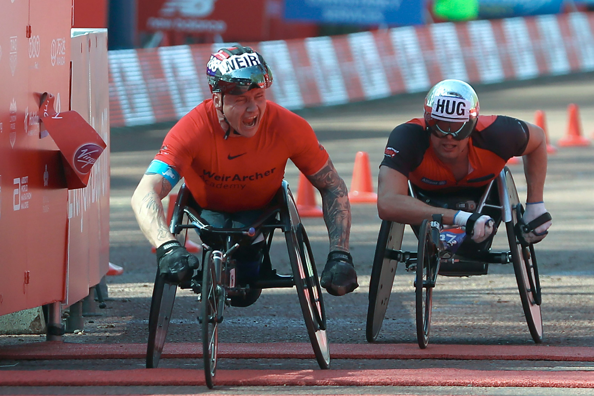 David Weir won his eighth men's wheelchair title ©Getty Images