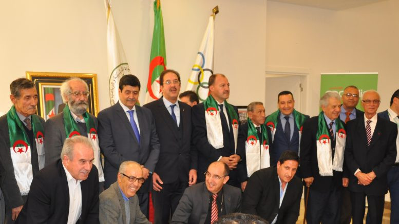 Members of the famous Algerian National Liberation Front have been honoured by the country's National Olympic Committee at a special ceremony in Algiers ©COA