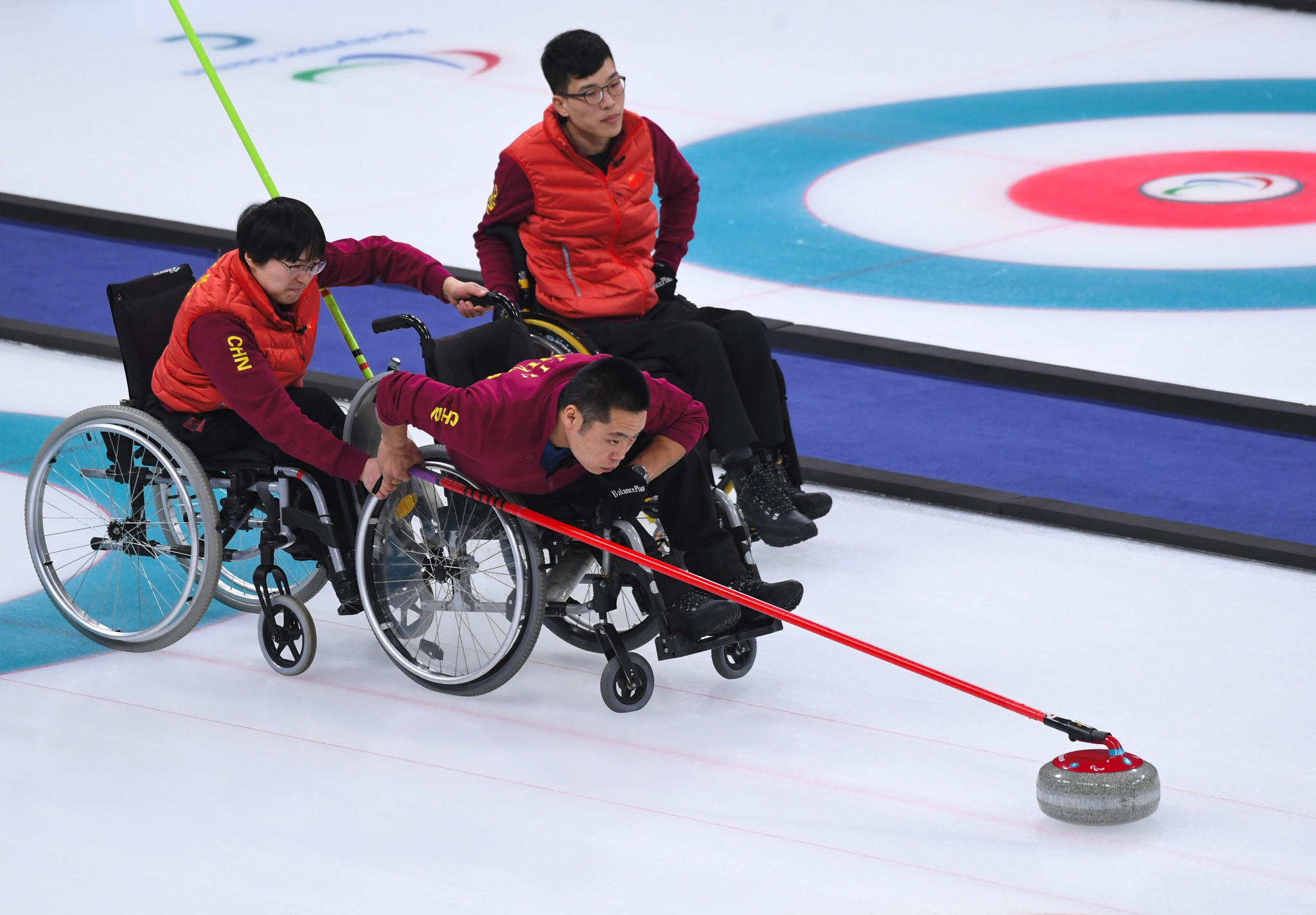The Chinese wheelchair curling team received the IPC's award after winning their country's first Winter Paralympic medal at Pyeongchang 2018 ©Getty Images