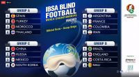 Brazil to face Britain at IBSA Blind Football World Championships after draw conducted in Madrid
