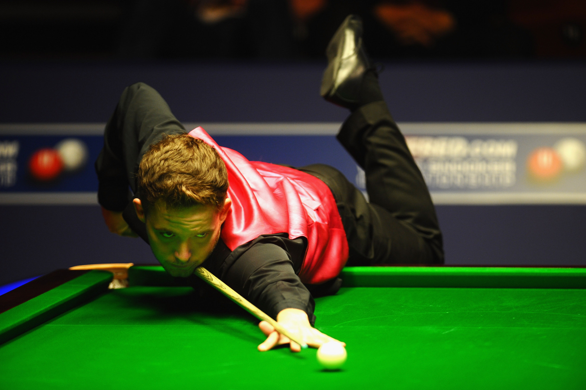 Player ranked outside top 50 shocks former champion in tense first round match at World Snooker Championship