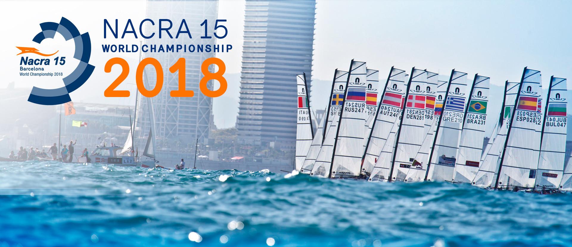Lack of wind postpones start of inaugural Nacra 15 World Championships in Barcelona