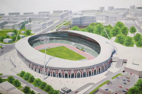 The Dinamo Stadium in Minsk will be a new state-of-the-art arena when it hosts the 2019 European Games ©NOC RB