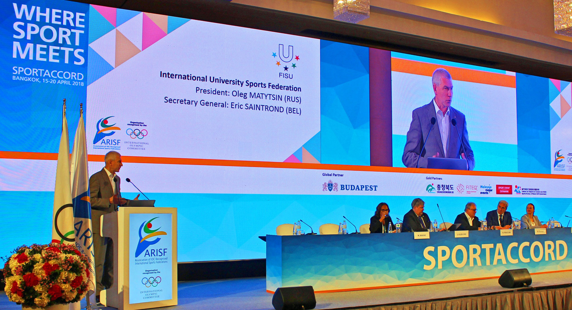 FISU President highlights organisation's ambition for deeper integration of university sports into Olympic Movement