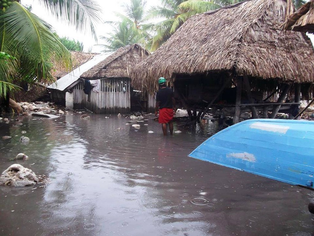Kiribati was one of the Pacific islands to feel the effects of Cyclone Pam, which killed 15 people in Vanuatu