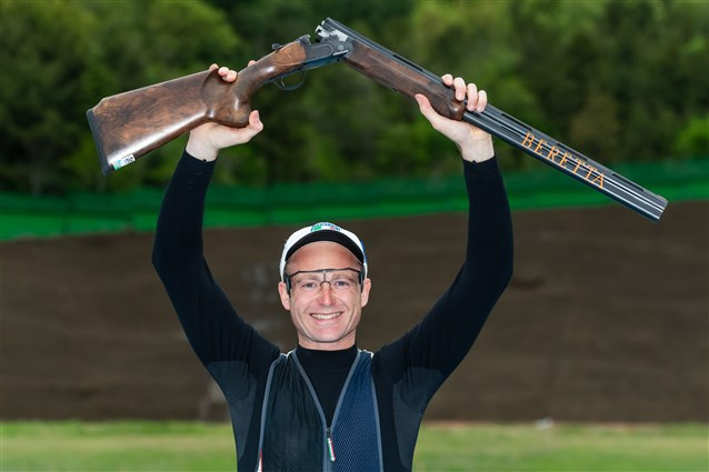 Italy's Mauro De Filippis won his first World Cup title in eight years in Changwon ©ISSF