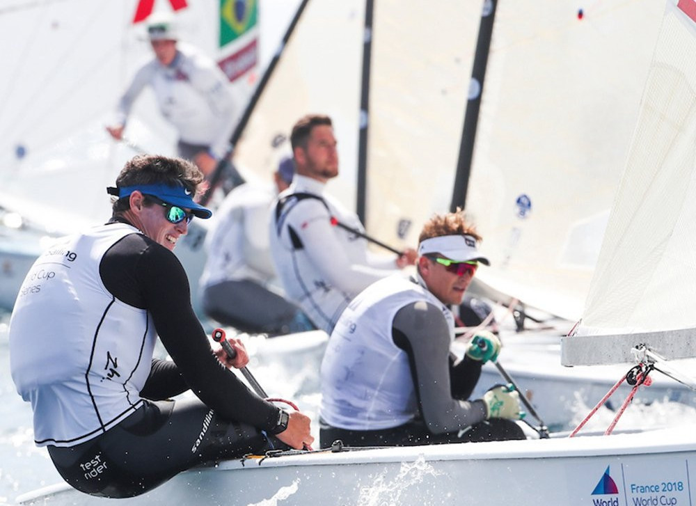 Lobert leads French success on day one of Sailing World Cup in Hyères