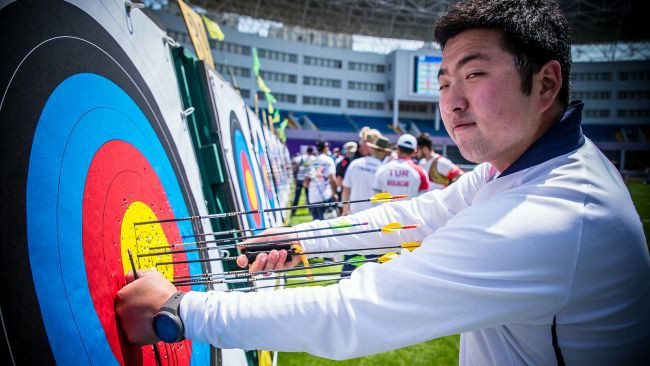 South Koreans dominate recurve qualification at 2018 Archery World Cup