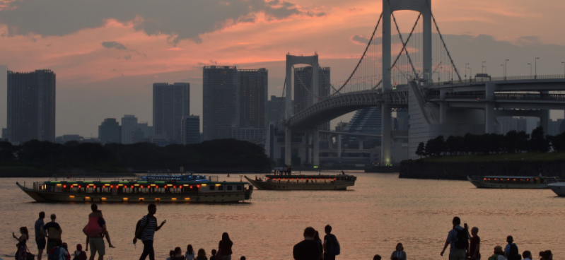 Water pollution concerns remain in Odaiba, where triathlon is due to be held ©Getty Images