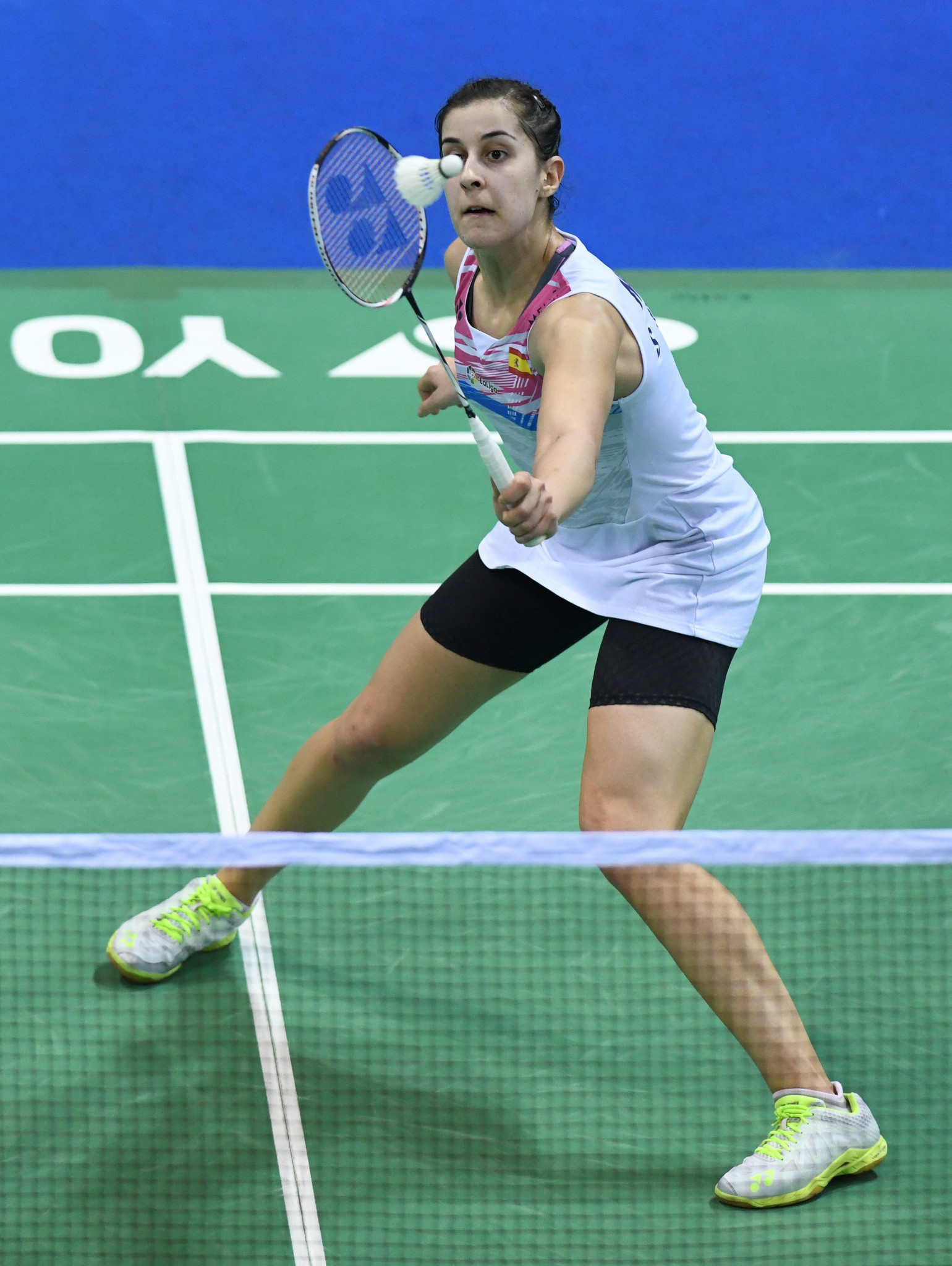 Top seed Carolina Marín is through to the third round of the women's singles event at the European Badminton Championships ©Getty Images