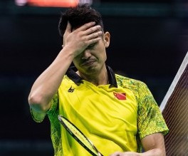 Home favourite Lin Dan has crashed out of the Badminton Asia Championships in Wuhan ©BWF