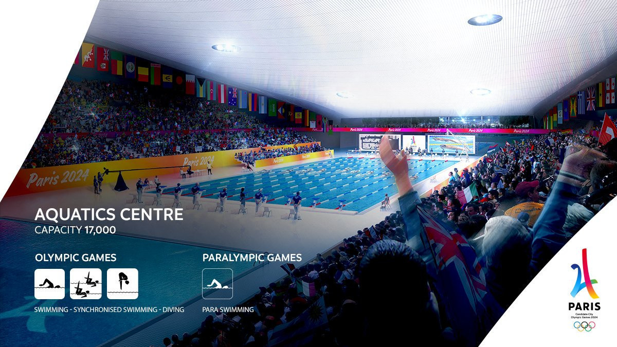 Paris 2024 said to be considering temporary option for aquatics centre