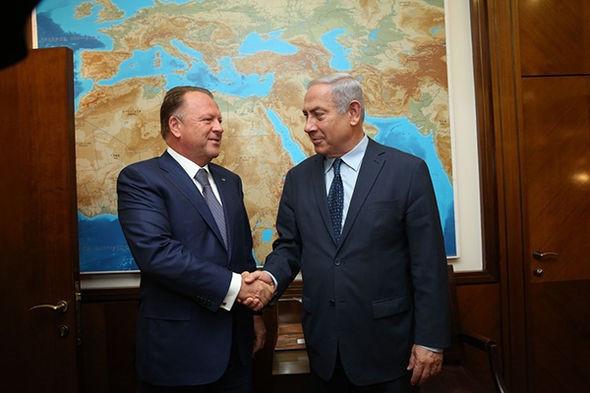 IJF President Vizer meets Israeli Prime Minister Netanyahu at European Judo Championships