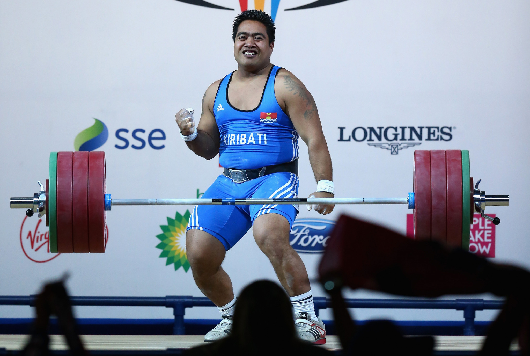 David Katoatau won the Commonwealth Games gold medal at Glasgow 2014 ©Getty Images