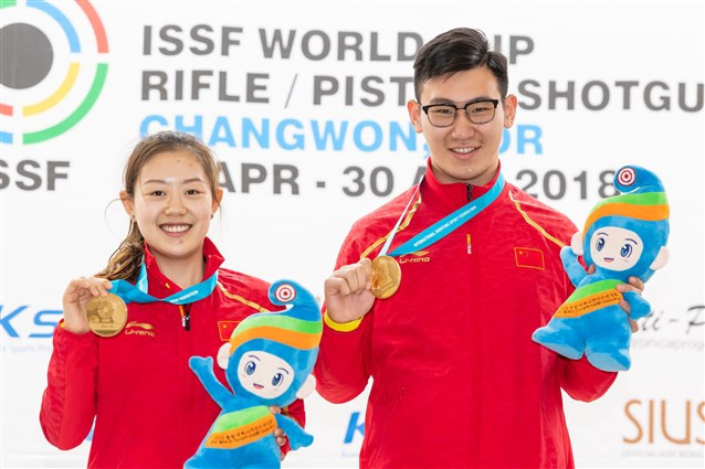 China break world record to win 10m air pistol mixed team event at ISSF World Cup