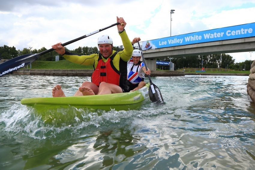 Sir Matthew Pinsent and Etienne Stott have praised the Lee Valley White Water Centre ahead of the Championships ©British Canoeing