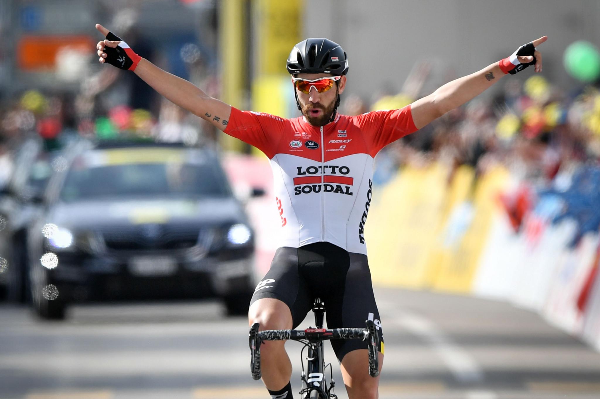 De Gendt breaks clear to claim solo Tour de Romandie stage win