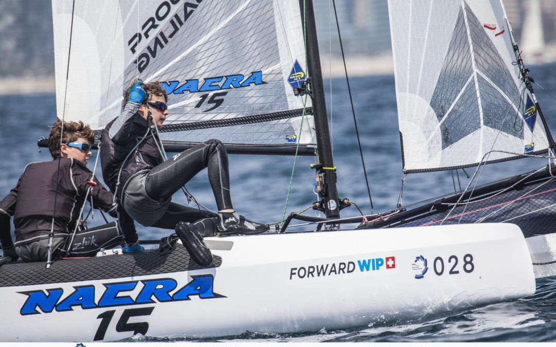 Action continued today at the Nacra 15 World Championships in Barcelona ©Nacra 15 Barcelona World Championship 2018