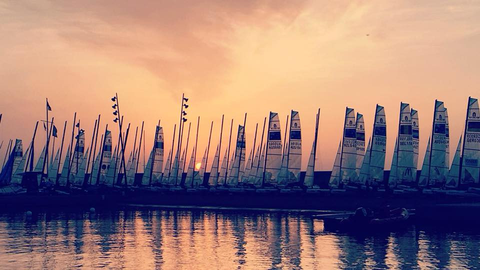 Today's first race was not possible until the afternoon ©Nacra15 Class Association/Facebook