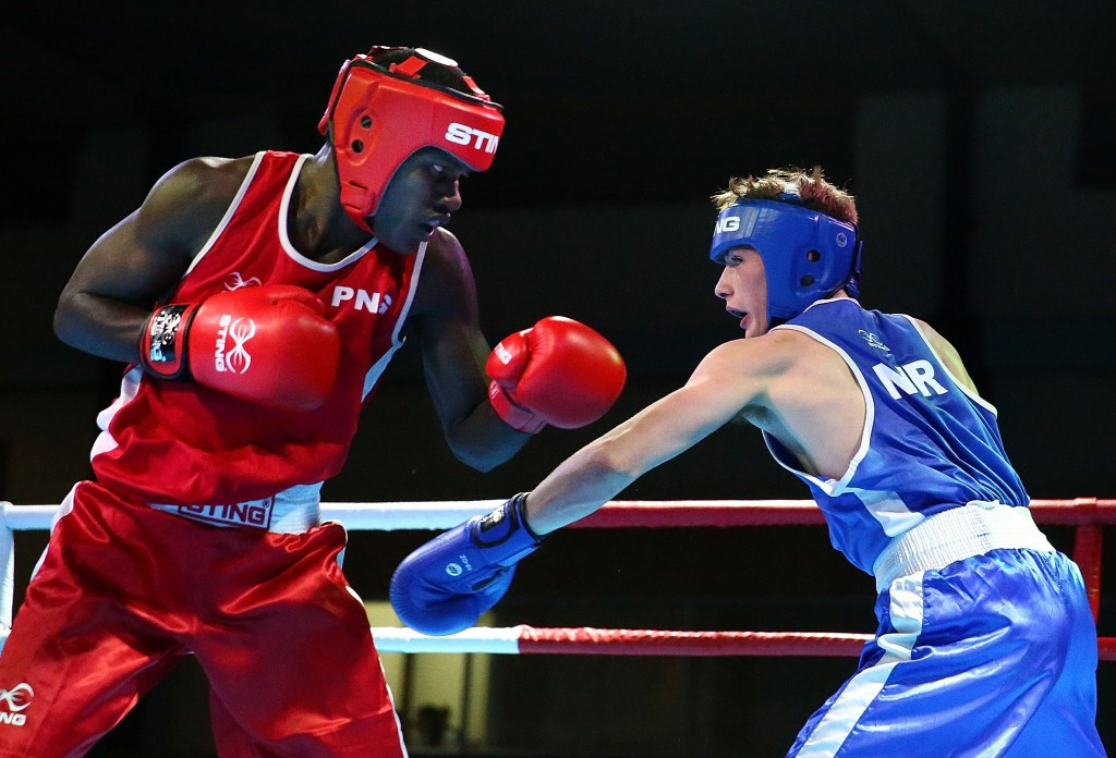 Port Moresby 2015 gold medallist Thadius Katua of Papua New Guinea kept his good run of form going by winning the lightweight title