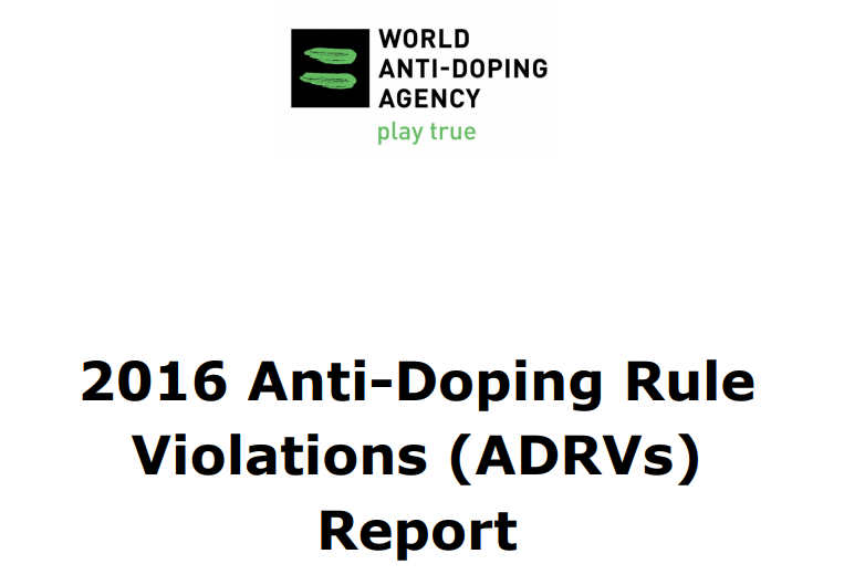 WADA have published their report on Anti-Doping Rule Violations in 2016 ©WADA