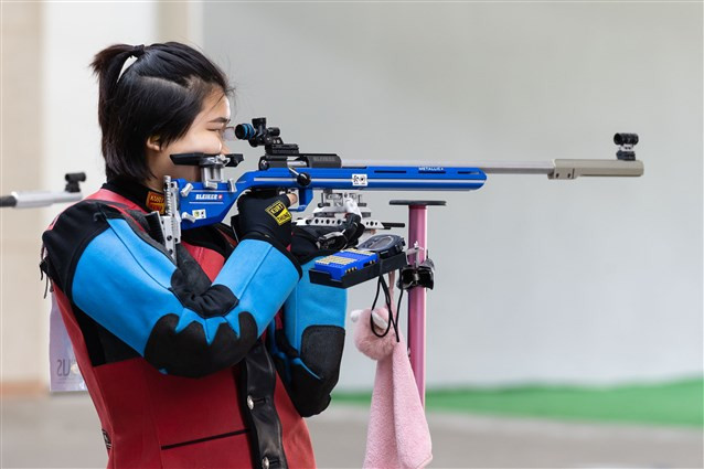 Youngster Wang comes through close contest to win gold at ISSF World Cup