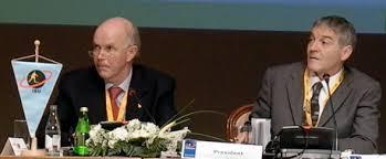 Michael Geistlinger, right, alongside ex-IBU President in 2007 ©US Biathlon