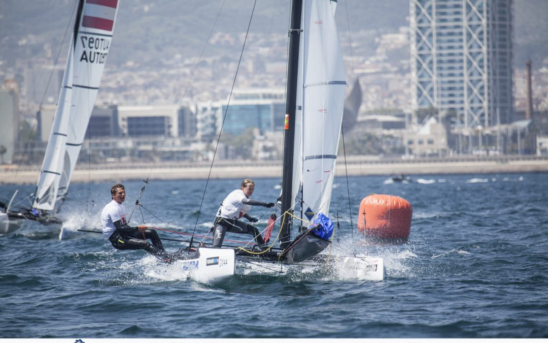 Belgium's Henri Demesmaeker and Frederique Van Eupen have come out on top at the Nacra 15 World Championships ©Nacra15 Barcelona World Championship 2018