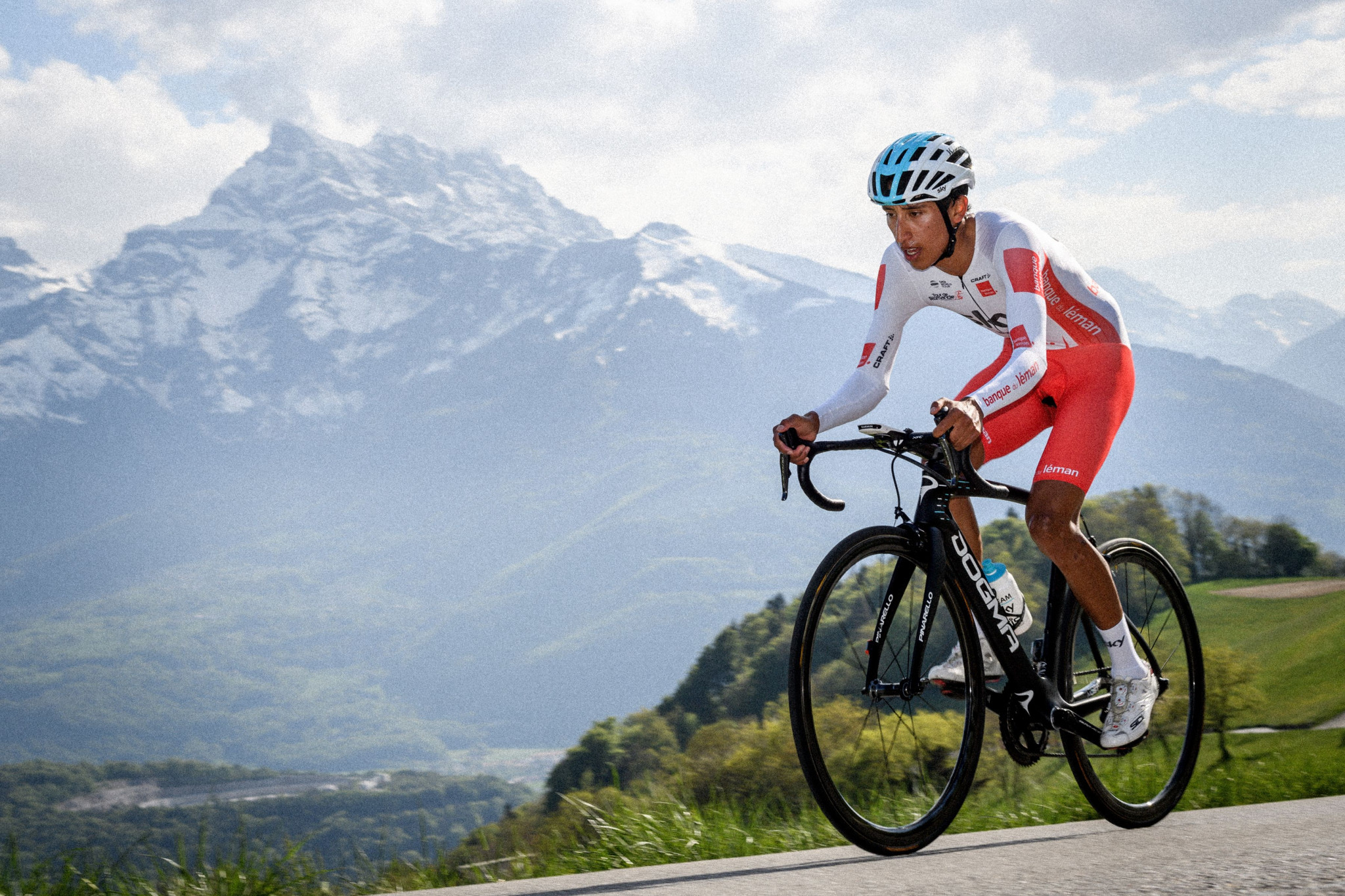 Bernal wins Romandie mountain time trial, cuts Roglic's lead