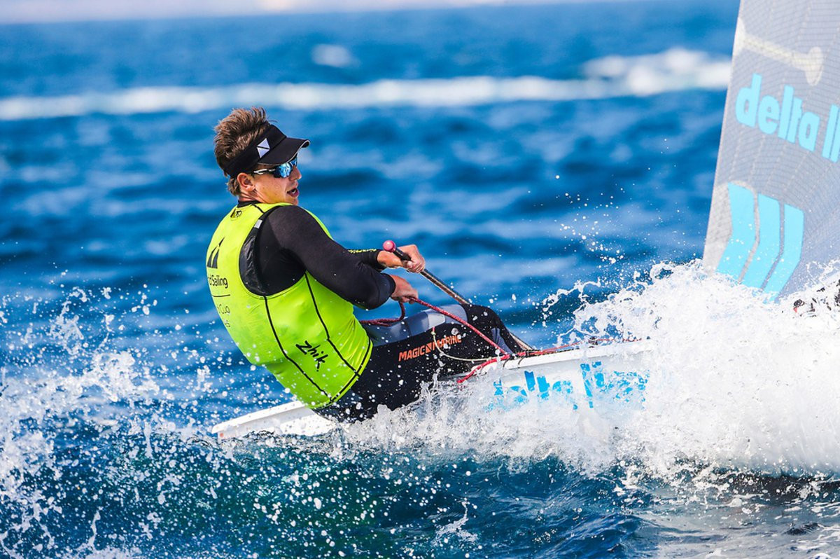 Tight Finn and laser battles unfolding at Sailing World Cup in Hyères