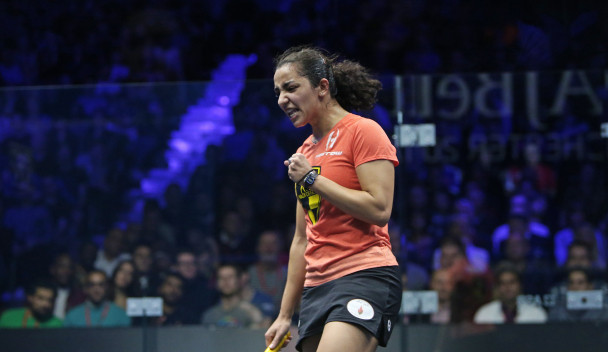 Raneem El Welily caused an upset to claim the El Gouna International title ©PSA