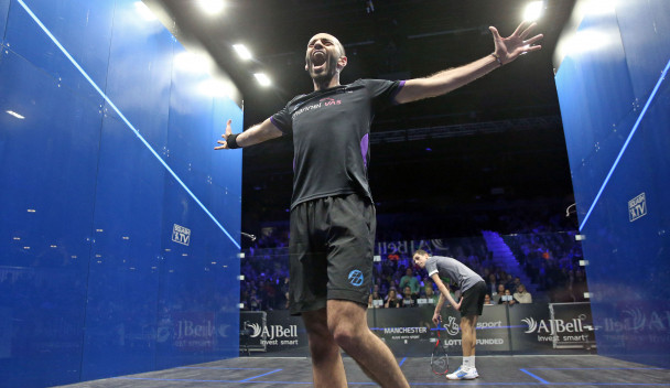 Marwan ElShorbagy came out on top in the men's final ©PSA