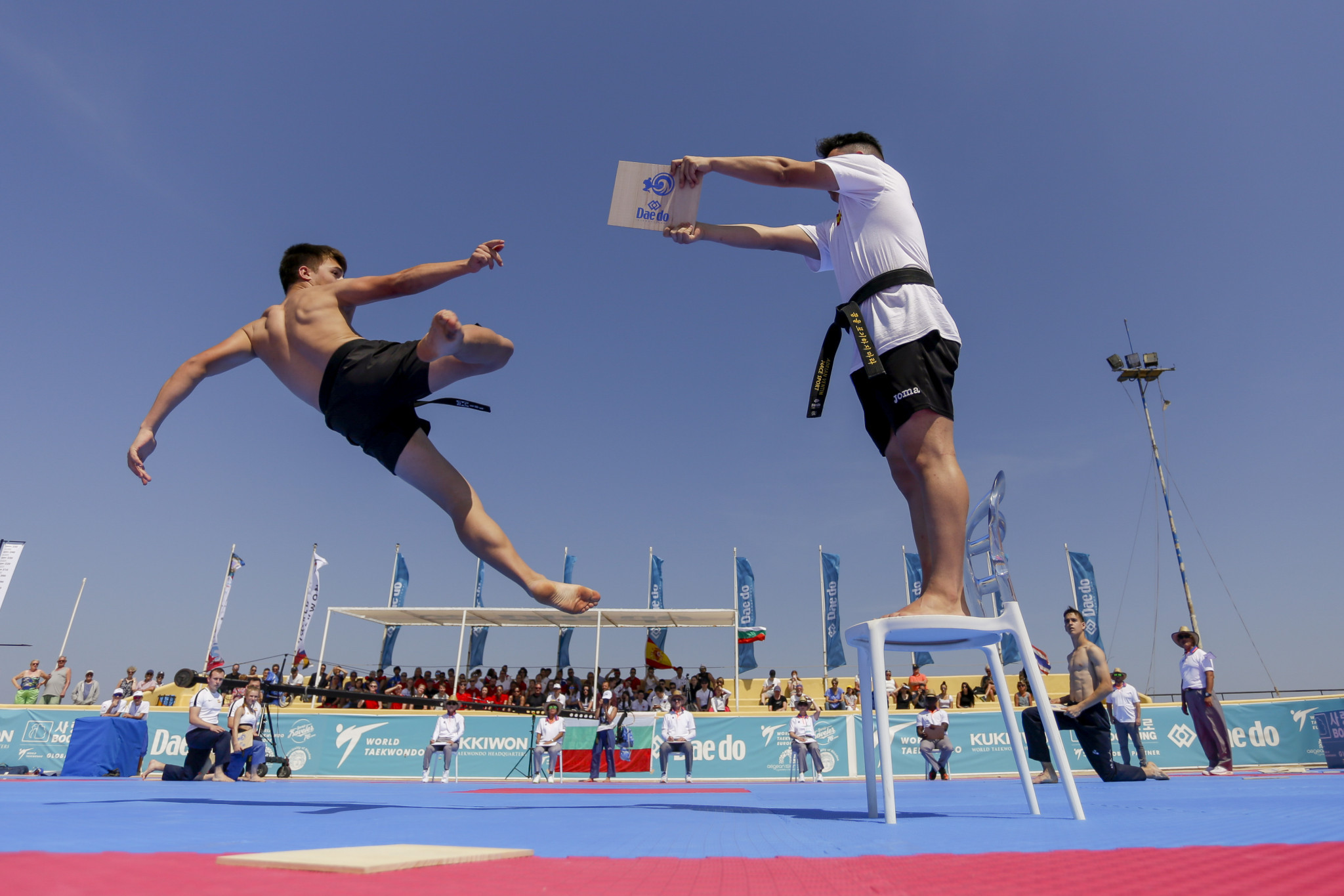 Thailand claimed five gold medals on the third day of competition at the World Taekwondo Beach Championships in Rhodes ©World Taekwondo