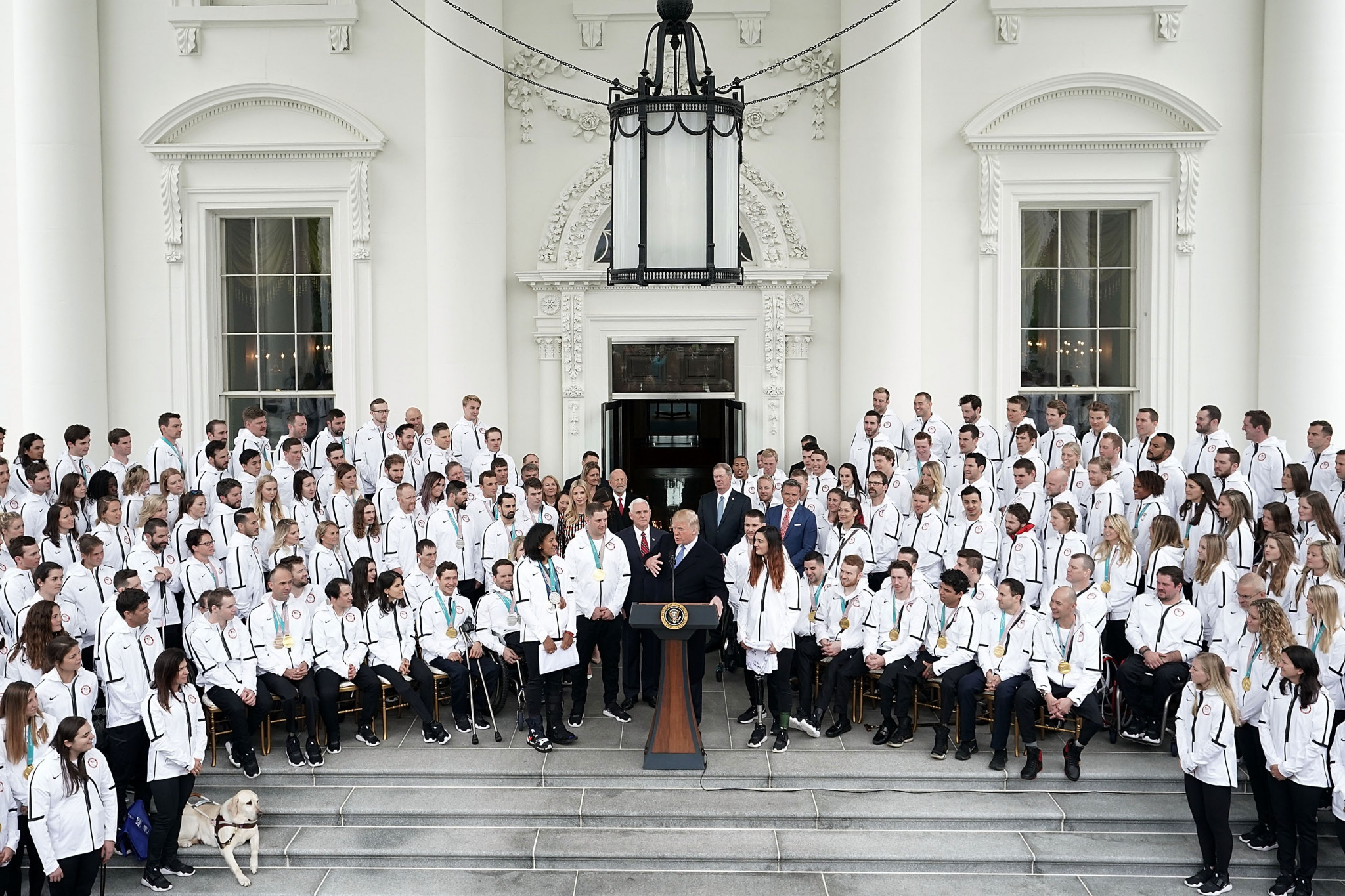 Trump welcomes US Winter Olympians and Paralympians to White House but Vonn leads big-name absences