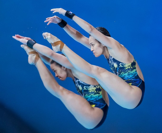 Malaysia's Pandelela Pamg and Jun Hoong Cheong broke the Chinese golden sequence in Montreal ©FINA