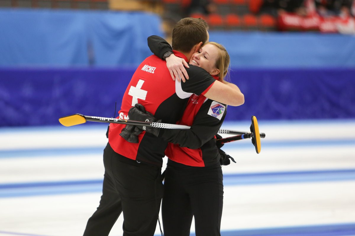 Switzerland secured victory at the showpiece mixed doubles event today ©WCF/Twitter