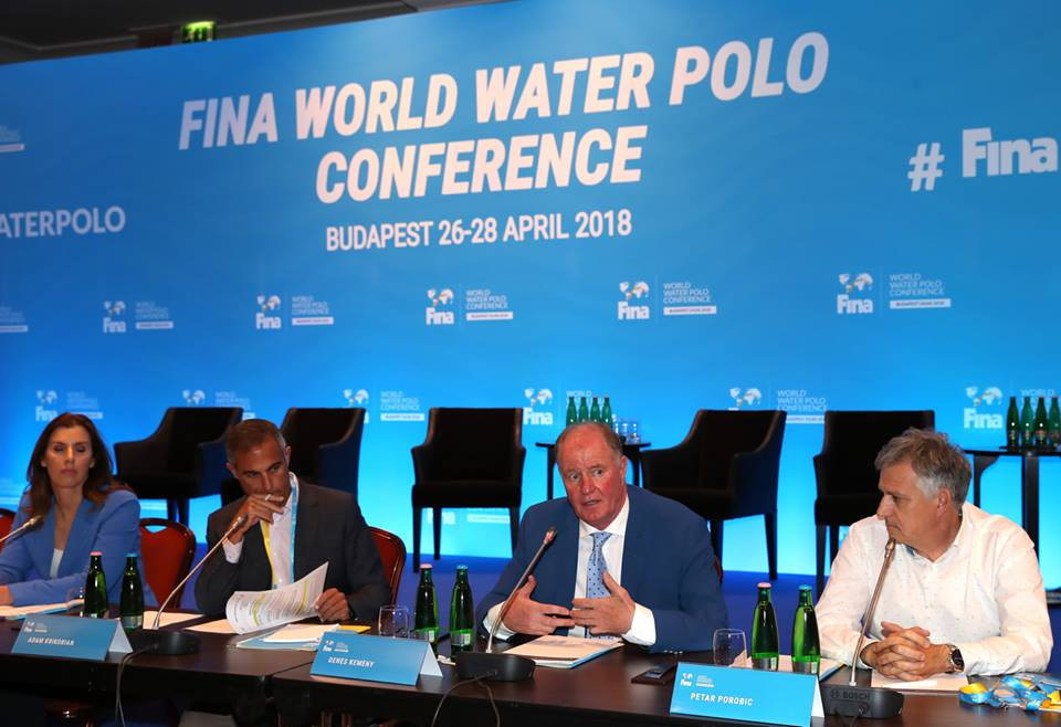 Experts from around the world attended the FINA World Water Polo Conference in Budapest  ©FINA