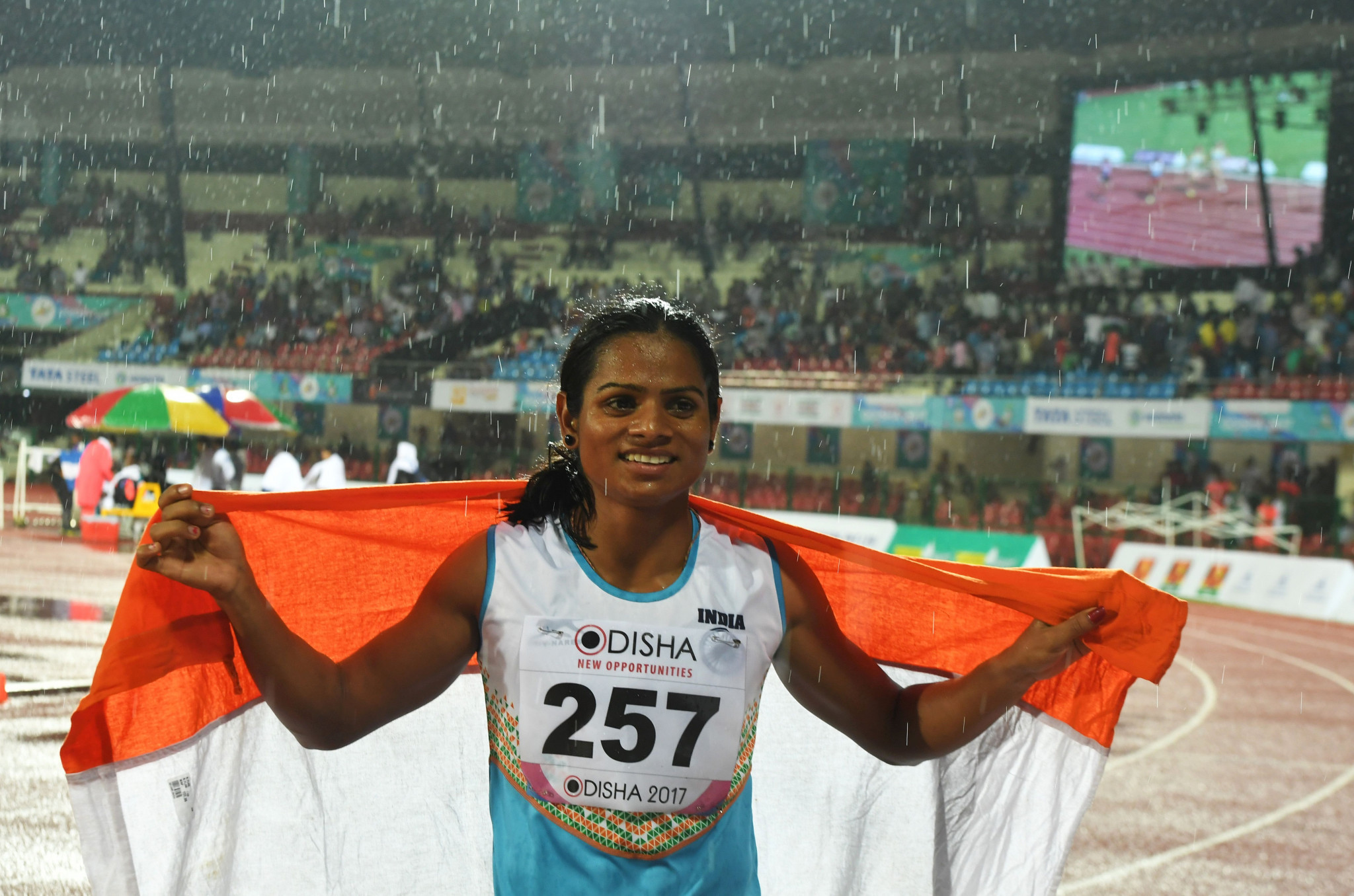 India's Dutee Chand, pictured, has offered her support to Caster Semenya ©Getty Images
