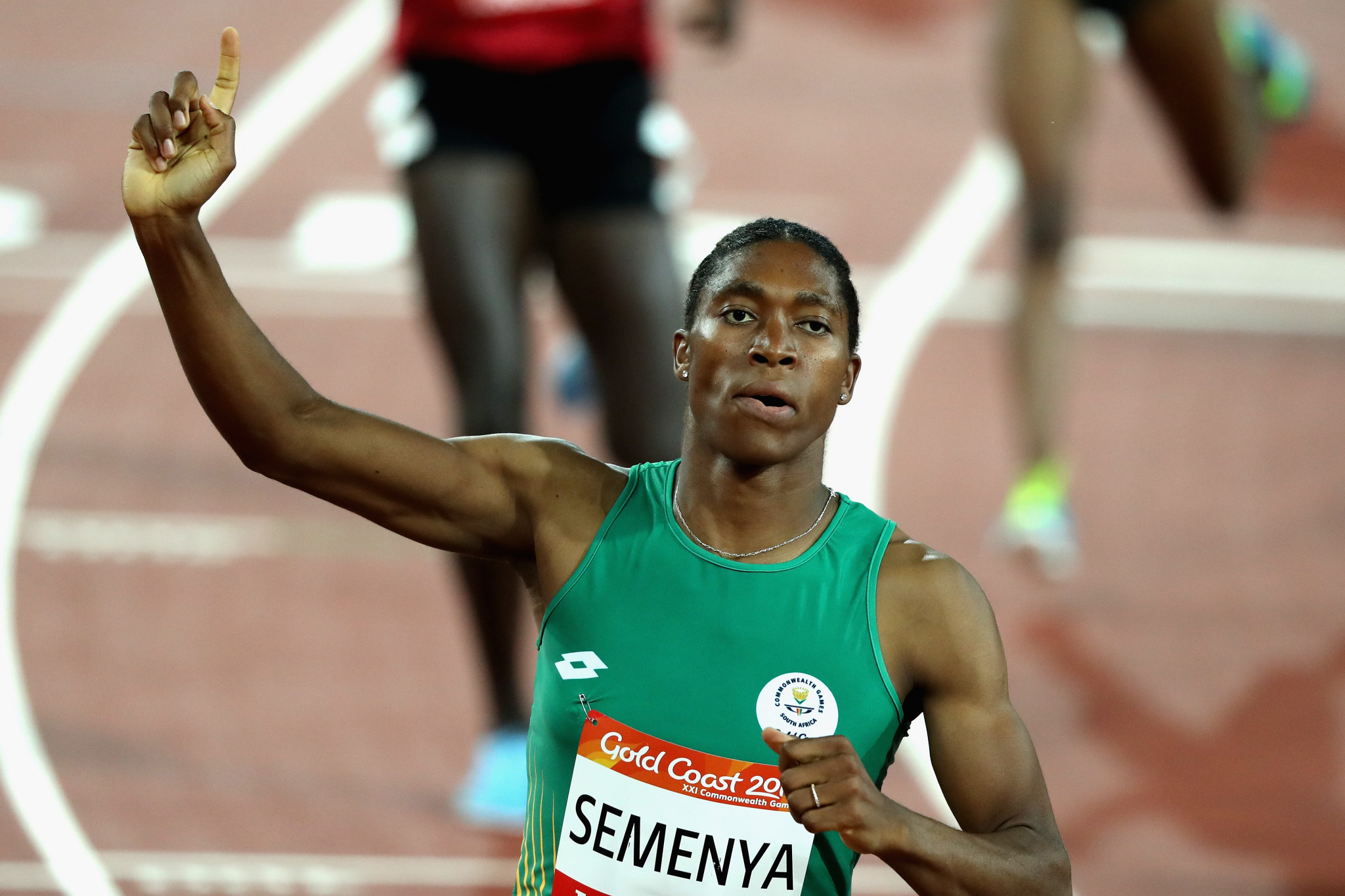 Caster Semenya won gold in the 800m and 1,500m events at this month's Commonwealth Games in Gold Coast ©Getty Images