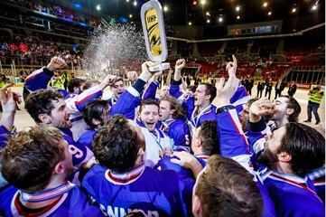Great Britain have now won two promotions in two years ©Laszlo Mudra/IIHF