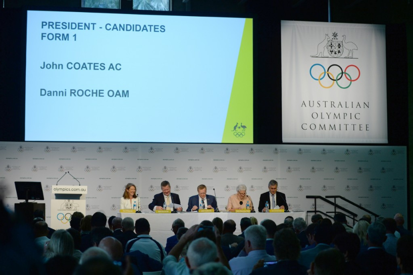 Danielle Roche was John Coates' sole rival in last year's Australian Olympic Committee Presidential election ©Getty Images