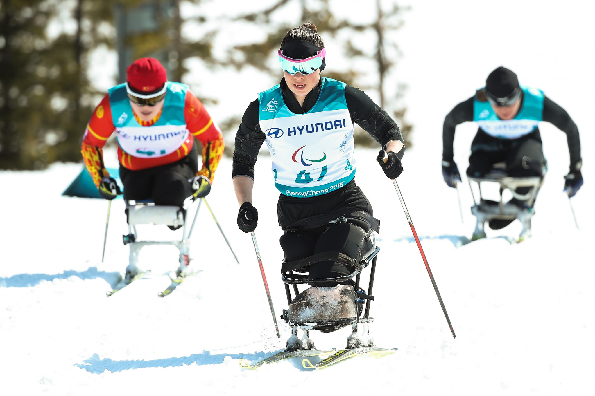 Russian athletes had to compete under a neutral flag at this year's Winter Paralympic Games in Pyeongchang ©Getty Images