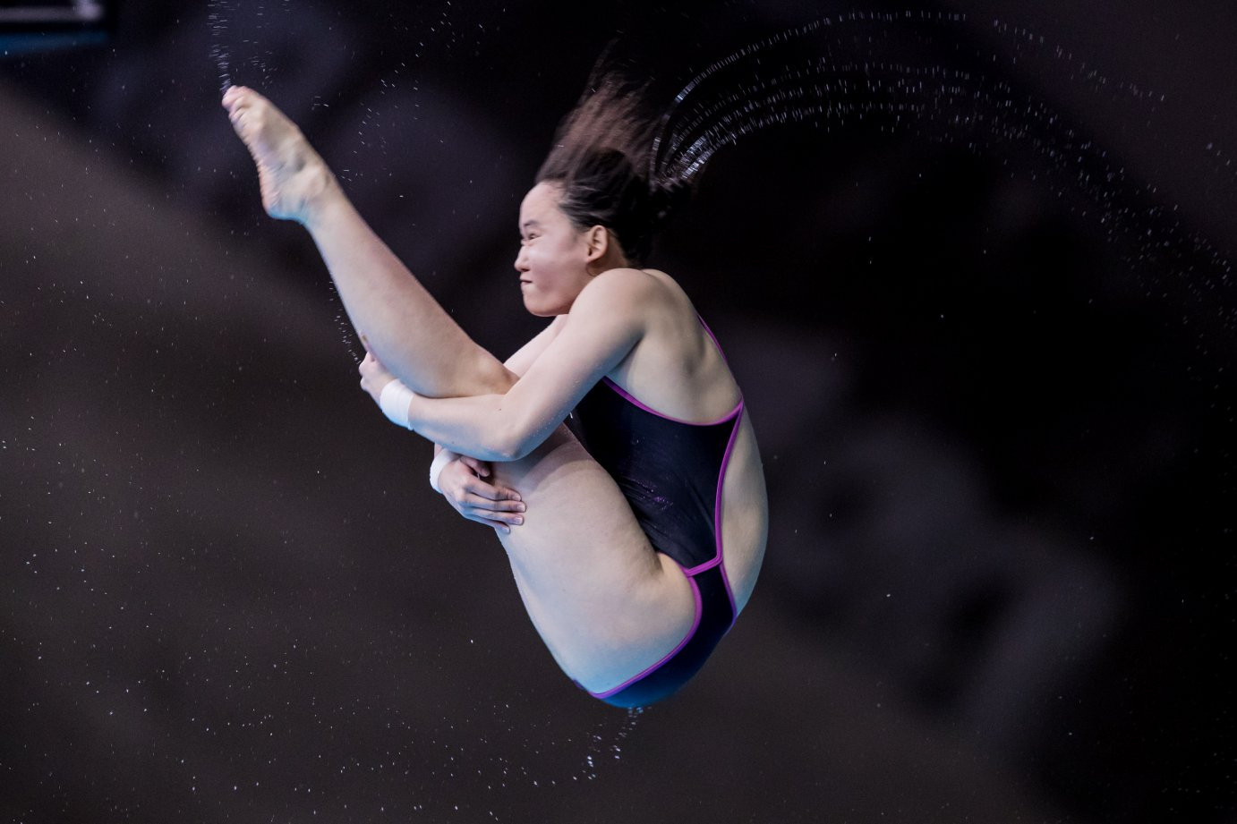 Ren Qian won gold in the women's 10m event at the FINA Diving World Series in Montreal ©Getty Images
