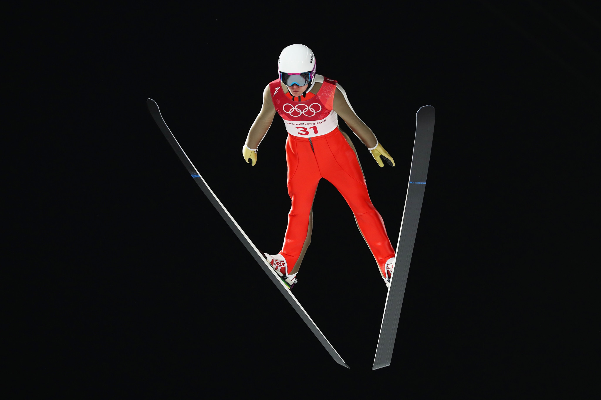 Irina Avvakumova produced the best performance by a Russian ski jumper at the Winter Olympic Games in Pyeongchang, finishing fourth in the women's event ©Getty Images