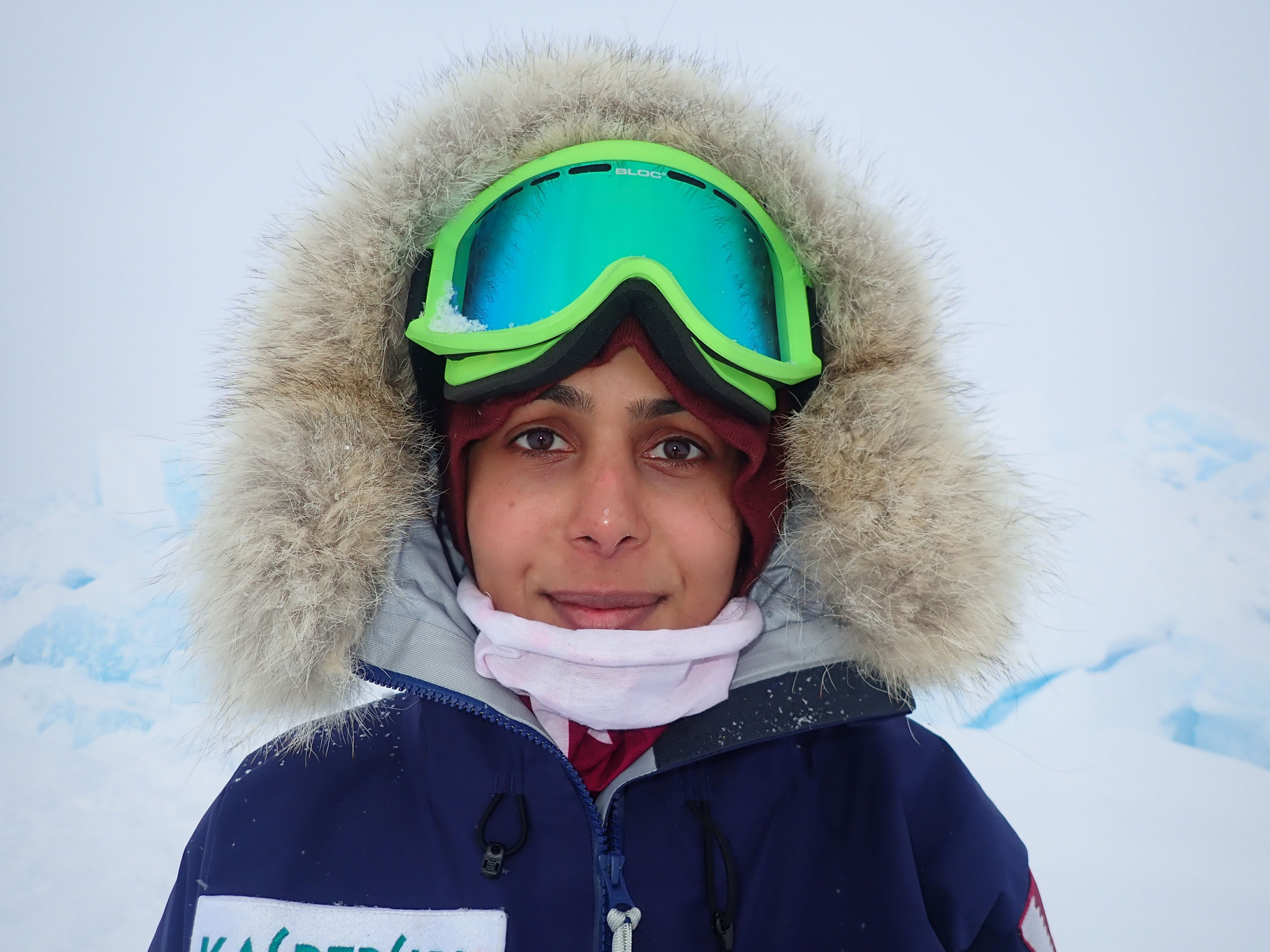 Sheikha Asma Al Thani became the first Qatari to ski to the North Pole ©QOC