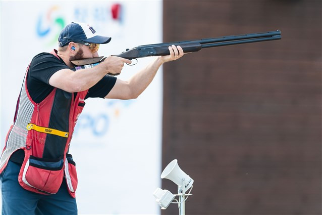 Hancock equals world skeet record again in winning Changwon ISSF World Cup