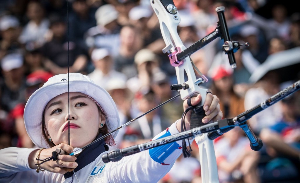 Woojin and Hye Jin lead South Korean clean sweep in recurve at Archery World Cup in Shanghai