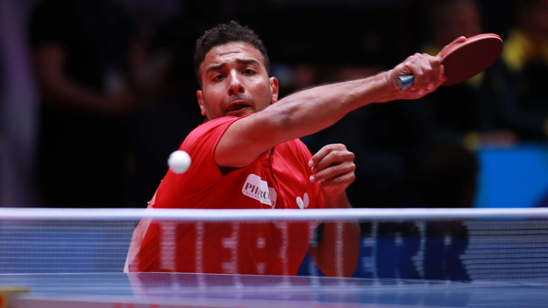 Egypt's Omar Assar won two matches but his team lost 3-2 to Germany in Halmstad ©ITTF