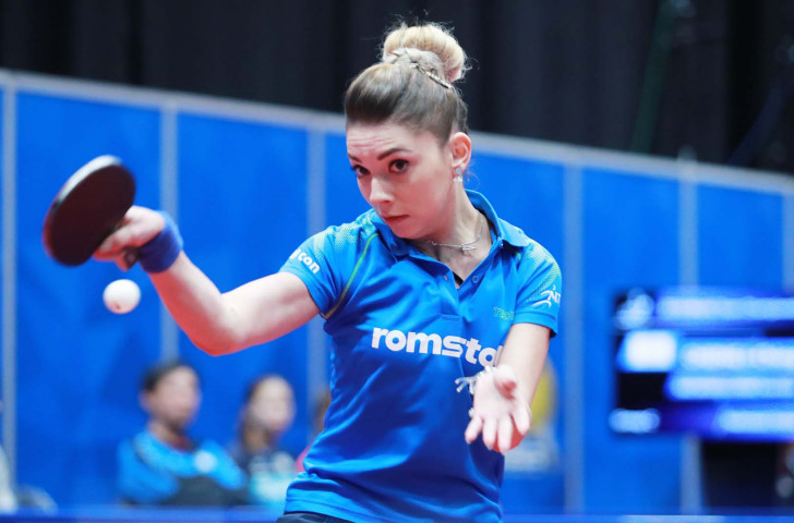 Bernadette Szocs helped European champions Romania get off to a winning start against the Czech Republic in the women's event at the ITTF World Team Championships in Halmstad ©ITTF